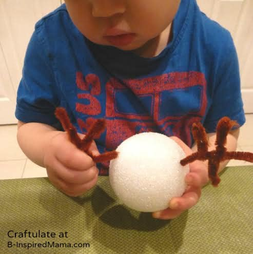Antlers - Christmas Ornaments for Kids to Make - Reindeer - B-Inspired Mama
