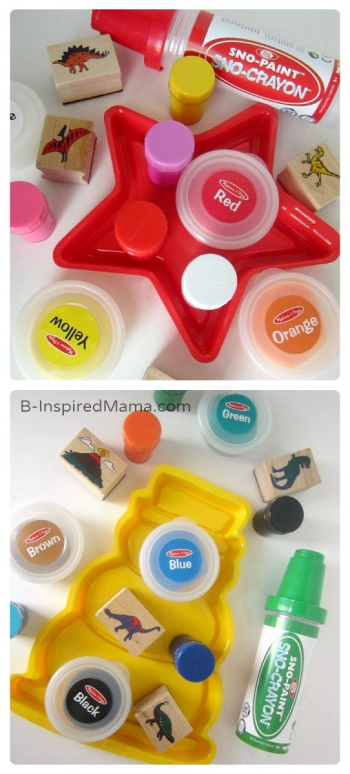 Splitting Up Art Supplies - A Kids Christmas Stocking Full of Creativity - #shop #searsStyle #cbias - B-Inspired Mama