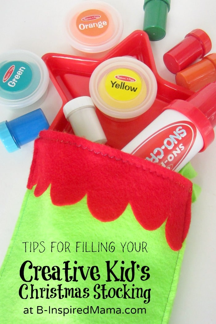 Tips for Filling that Creative Kids Christmas Stocking - #shop #searsStyle #cbias - B-Inspired Mama