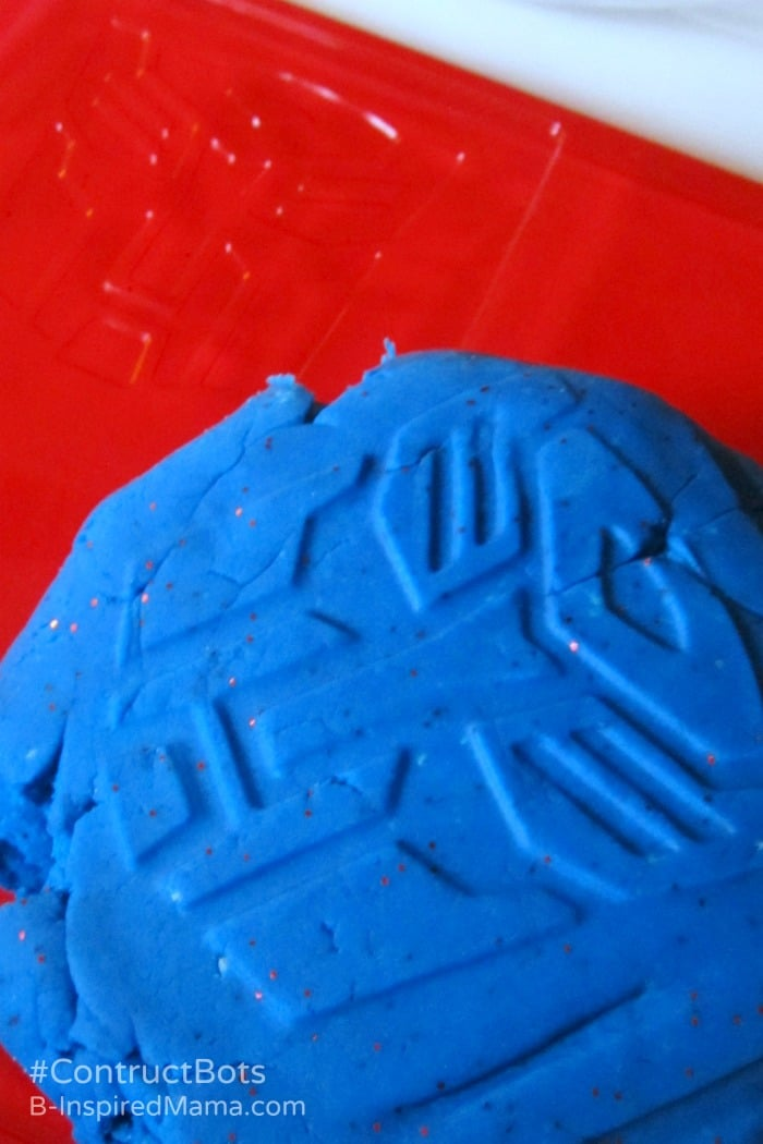 Transformers Inspired Homemade Playdough at B-Inspired Mama
