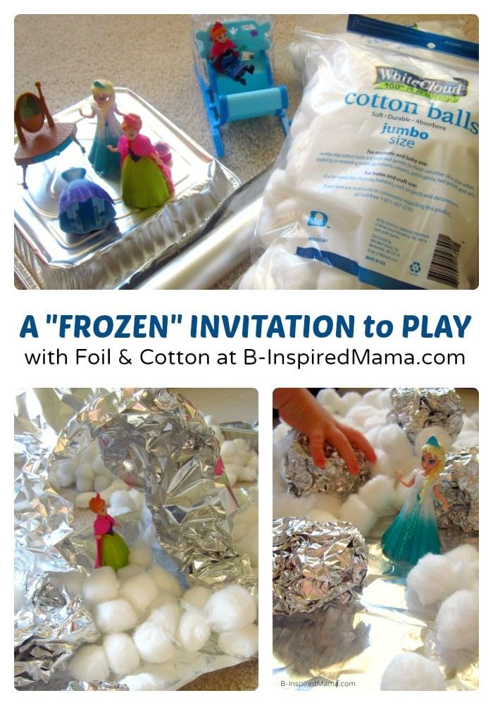 A FROZEN Kids Play Invitation at B-Inspired Mama  #FrozenFun, #shop, #cbias