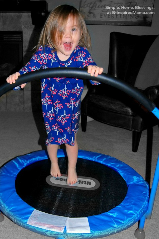 Indoor Games for Kids Using a Mini Trampoline - B-Inspired Mama