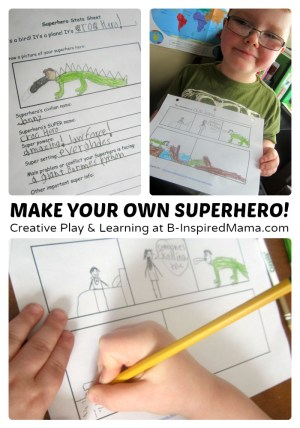 Creative Writing & Comic - Make Your Own Superhero Toys + Comic Printable - #Sponsored #MyMashUp at B-Inspired Mama