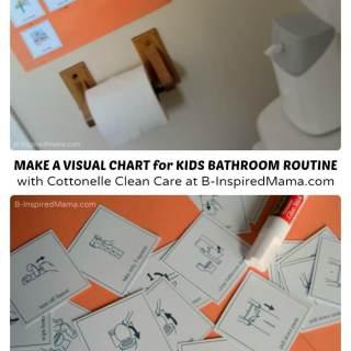 Visual Schedule for Teaching Kids Bathroom Hygiene