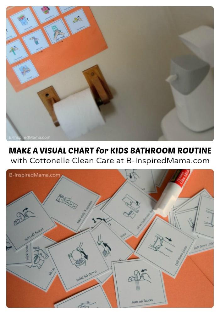 DIY Visual Schedule for Kids Bathroom Habits - #sponsored #CtnlCareRoutine #PMedia - B-Inspired Mama