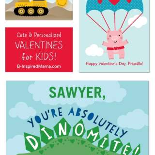 Send Personalized Kids Valentines with Treat