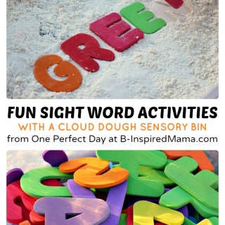 Sight Word Activities with Cloud Dough