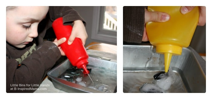 Fine Motor Skills - Penguin Ice Melt Science for Kids at B-Inspired Mama
