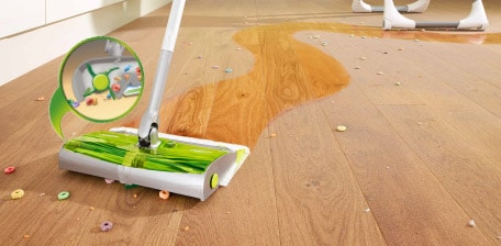 Using the Swiffer Sweep & Trap to Clean an Art Project at B-Inspired Mama