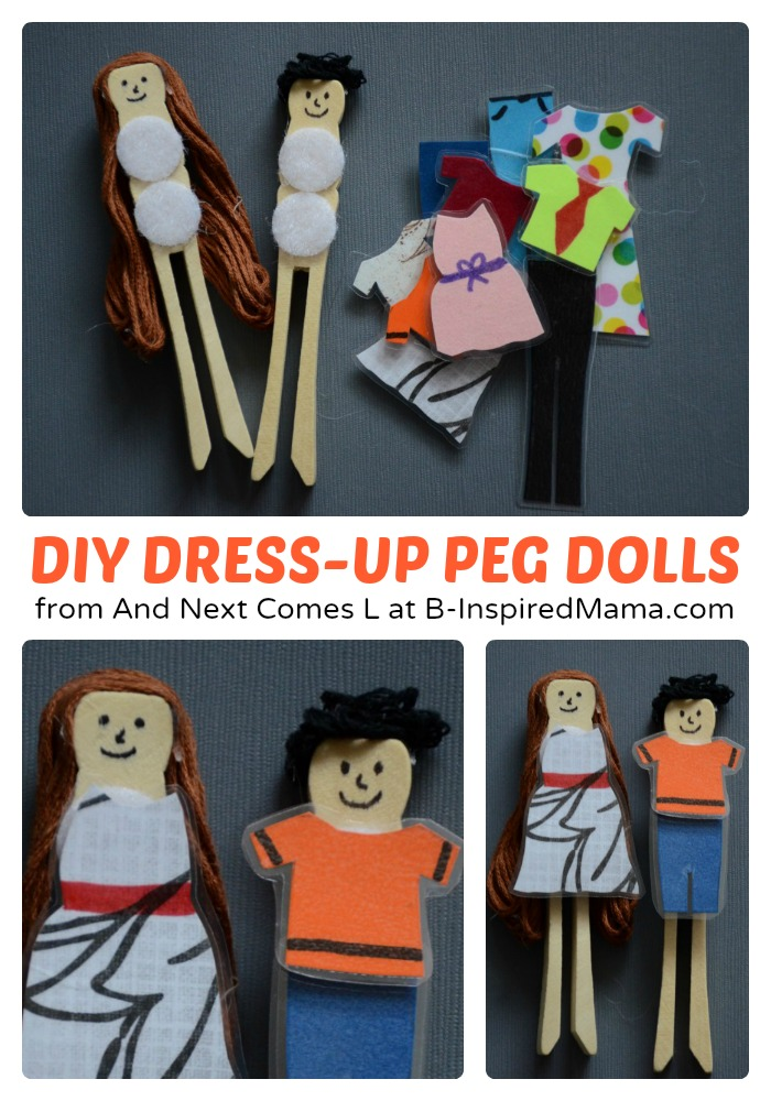 Easy DIY Toys – Dress Up Peg Dolls
