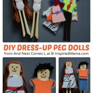 Easy DIY Toys – Dress Up Peg Dolls