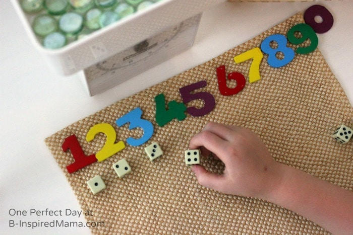 A Simple Setup for Math Fun at B-Inspired Mama