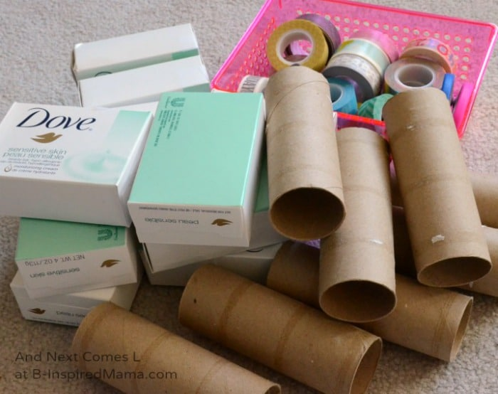 Recyclables for Making DIY Toys at B-Inspired Mama