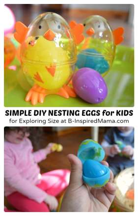 Simple DIY Toys for Easter - Nesting Eggs at B-Inspired Mama