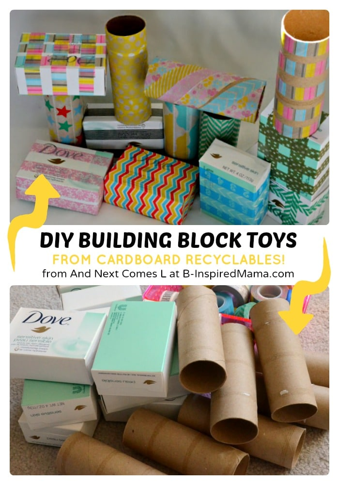 Easy DIY Toys – Recycled Building Blocks