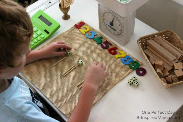 Simple Math Fun with A Math Space at B-Inspired Mama