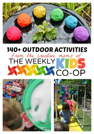 140+ Outdoor Activities for Kids + The Weekly Kids Co-Op Link Party at B-Inspired Mama
