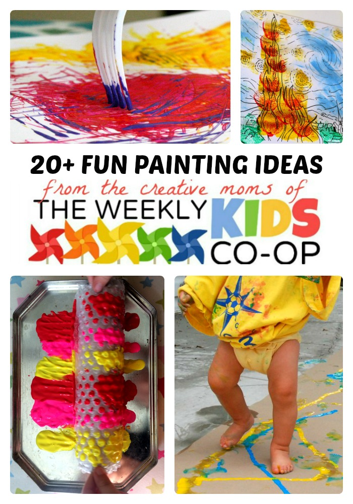 Fun Painting Ideas for Kids from The Weekly Kids Co-Op