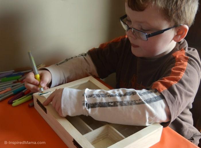 Collection Box Kids Craft - Designing - at B-Inspired Mama