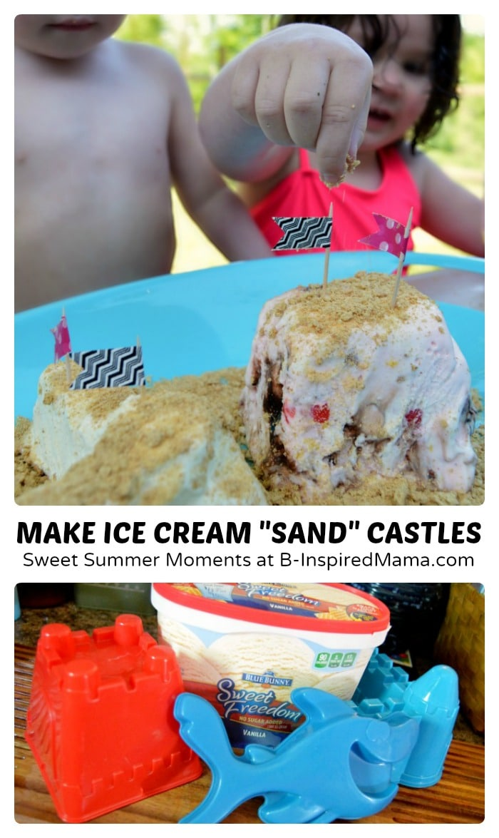 "Summer Ice Cream Sundae ""Sand"" Castle"