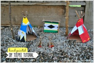 Native American Teepee Play Set - DIY Toys from Crayon Box Chronicles at B-Inspired Mama