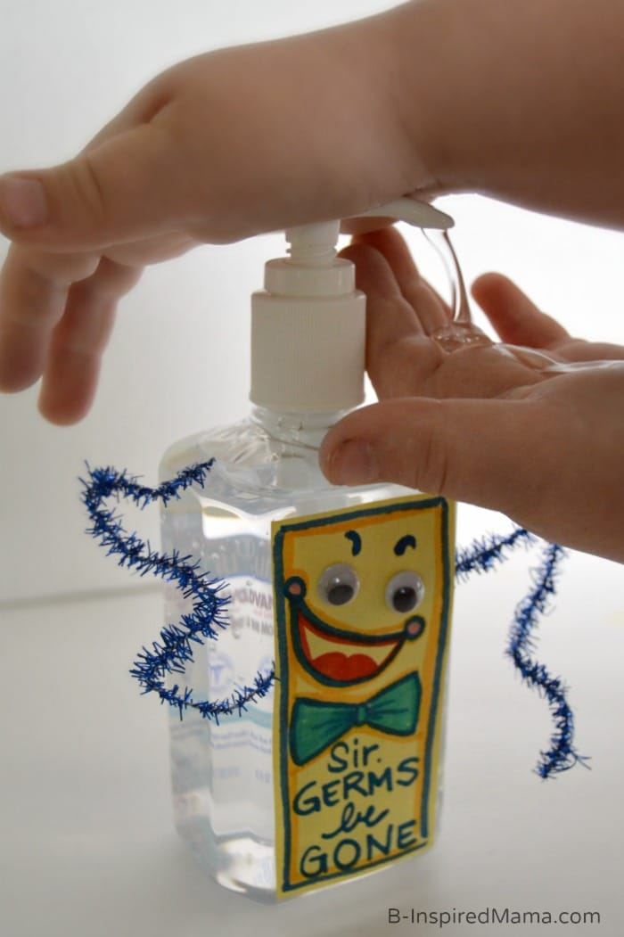 A Healthy Kids Challenge with a Purell Hand Sanitizer Sir Germs-Be-Gone Craft - #sponsored #Purell30 at B-Inspired Mama