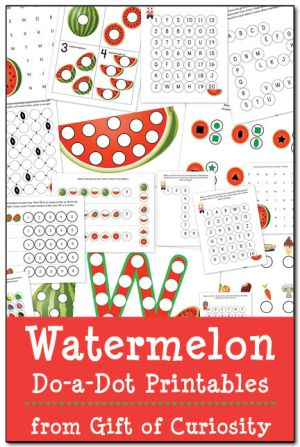 Watermelon Do-A-Dot Printables