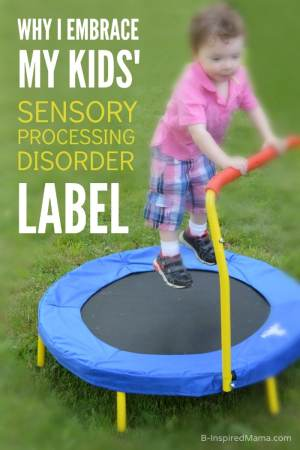 Why I Embrace the Sensory Processing Disorder Label - #SensoryHop - B-Inspired Mama