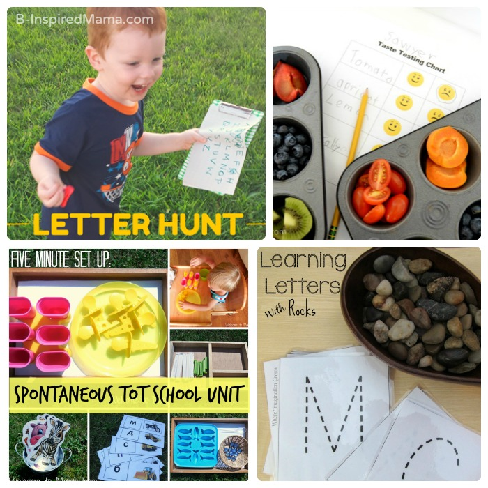 Easy Ideas for Early Learning at Home + The Kids Co-Op Link Party at B-Inspired Mama