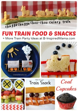 Fun Train Food and Snacks + Train Crafts and Party Ideas, Too at B-Inspired Mama