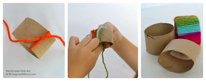 Making Thanksgiving Napkin Rings - Thanksgiving Crafts for Kids at B-Inspired Mama