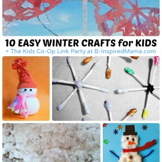 Easy Winter Crafts for Kids + The Kids Co-Op Link Party