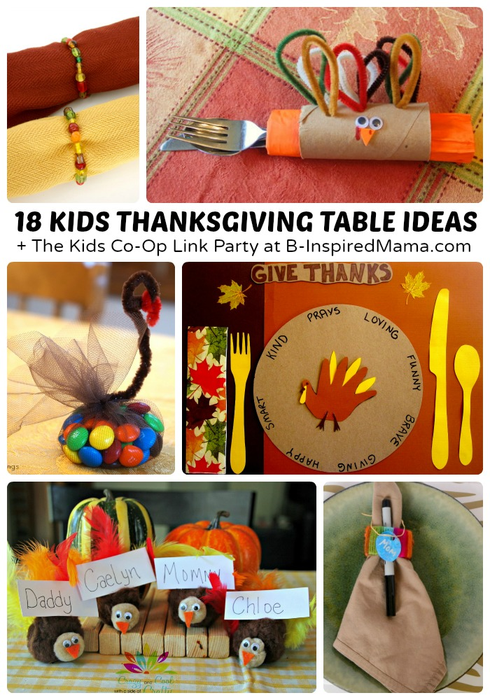 Creative Kids Thanksgiving Table Ideas