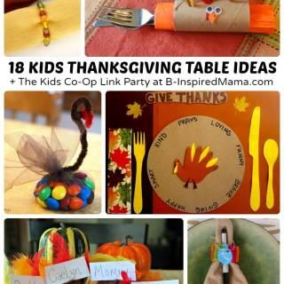 Creative Kids Thanksgiving Table Ideas