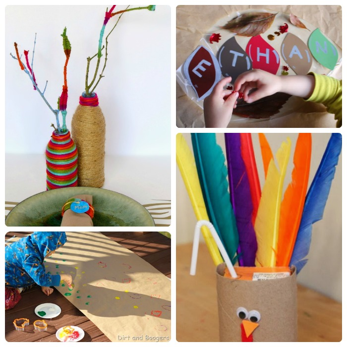 18 DIY Kids Thanksgiving Table Ideas + The Kids Co-Op Link Party at B-Inspired Mama
