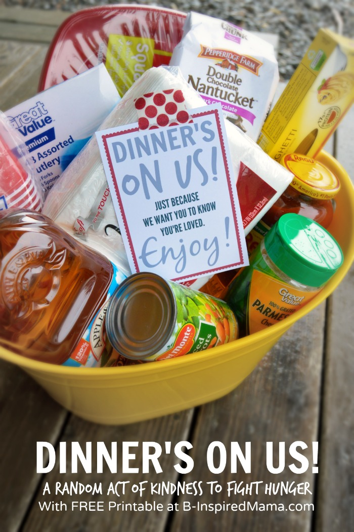 Dinner's On Us - A #ShareAMeal Random Act of Kindness at B-Inspired Mama #sponsored
