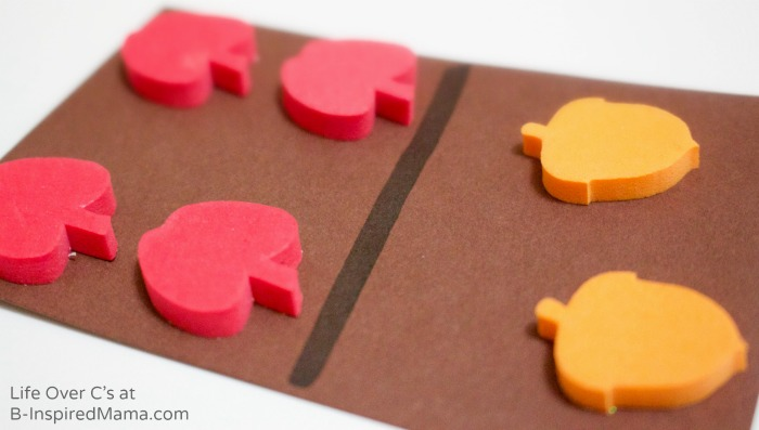 Simple DIY Fall Dominos for Cool Math Games - B-Inspired Mama