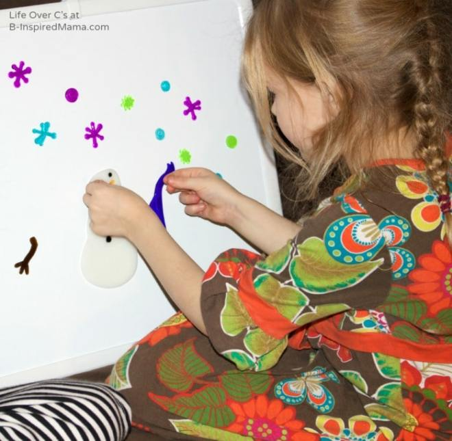 A Super Simple Winter Fine Motor Activity at B-Inspired Mama