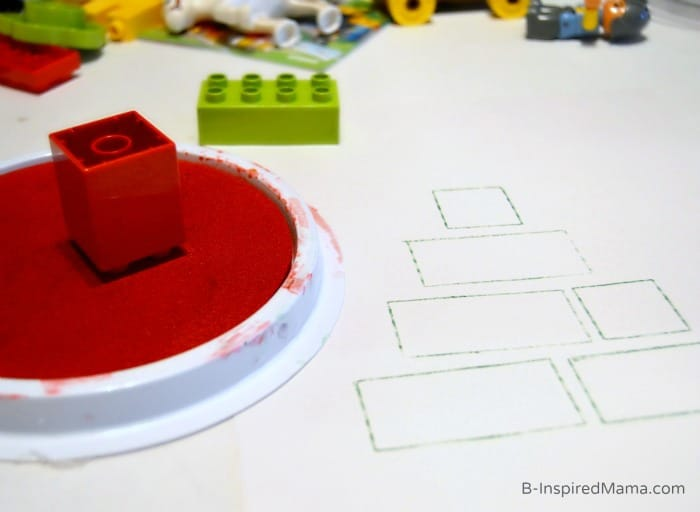 Making Our Easy Kids Christmas Craft Using LEGOs [Sponsored by LEGO] at B-Inspired Mama