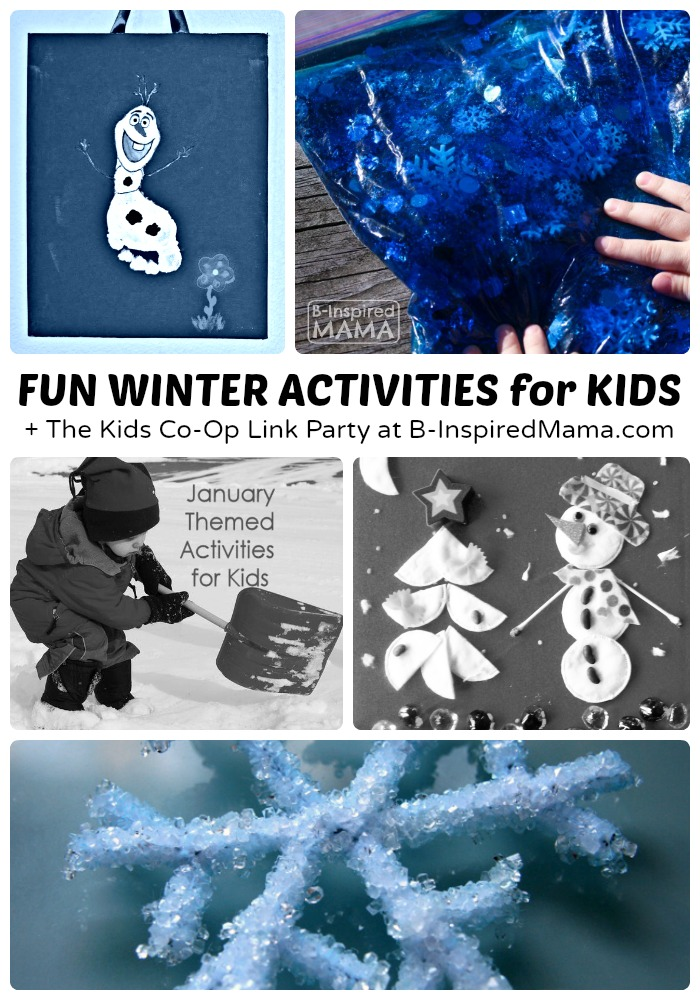 Fun Winter Activities + The Kids Co-Op Link Party