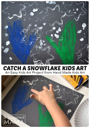 Catch a Snowflake - An Art Project for Kids at B-Inspired Mama