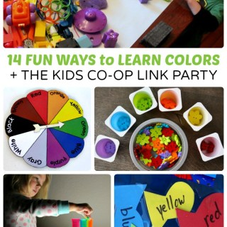 Fun Activities for Learning Colors + The Kids Co-Op Link Party