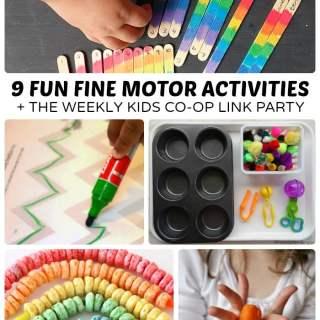 Fun Fine Motor Activities + The Kids Co-Op Link Party