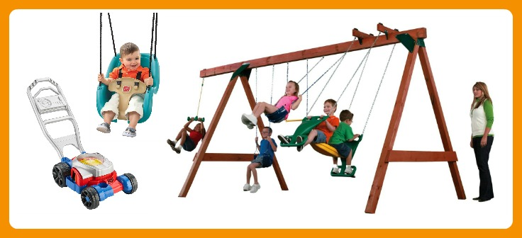 24 Fun Finds for Kids Outdoor Play - Mowers and Swings - at B-Inspired Mama