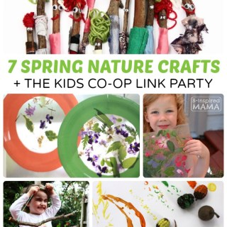 7 Spring Nature Crafts for Kids + The Kids Co-Op Link Party