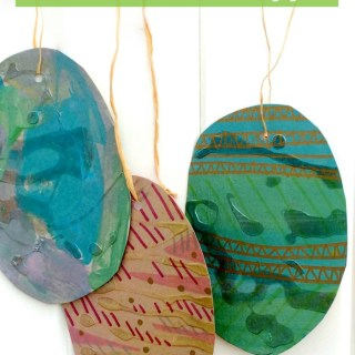 Beautiful Recycled Art Easter Eggs