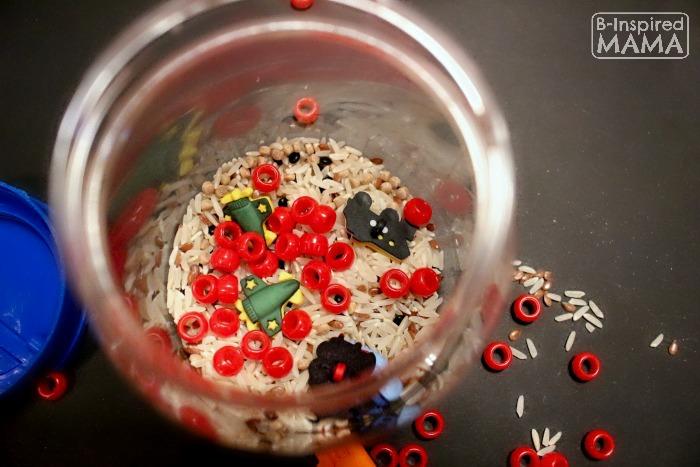 DIY Transportation I Spy Jar for Preschoolers at B-Inspired Mama