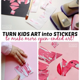 How to Make Stickers from Old Kids Art
