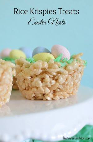 Easter Nests Rice Krispies Treats