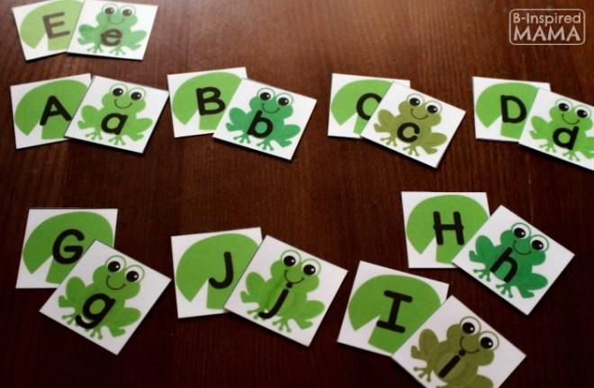 Fun & Free Frog Printable Alphabet Activities at B-Inspired Mama